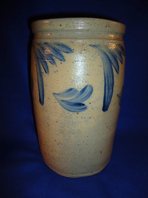 Circa 1870 Baltimore, Maryland 1 1/2 Gallon Stoneware Jar