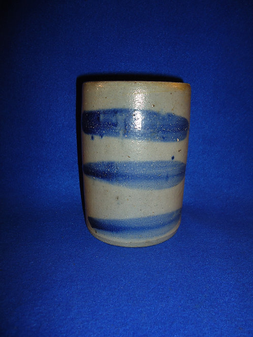 "6"" Stovepipe Stoneware Wax Sealer Canning Jar with 3 Bold Stripes"