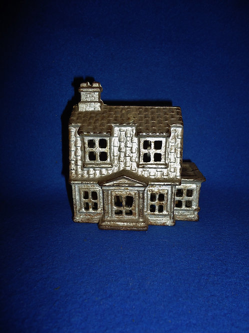 Cast Iron Still Bank, Colonial House with Porch #5604