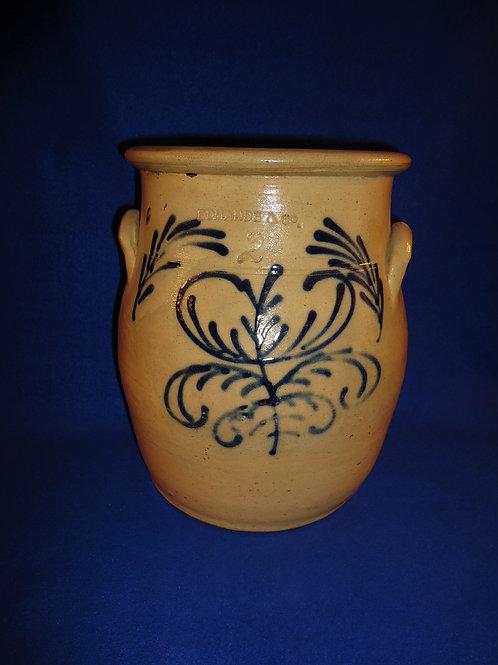 Edmands, Charlestown, Massachusetts Stoneware 2 Gallon Cream Pot #4750