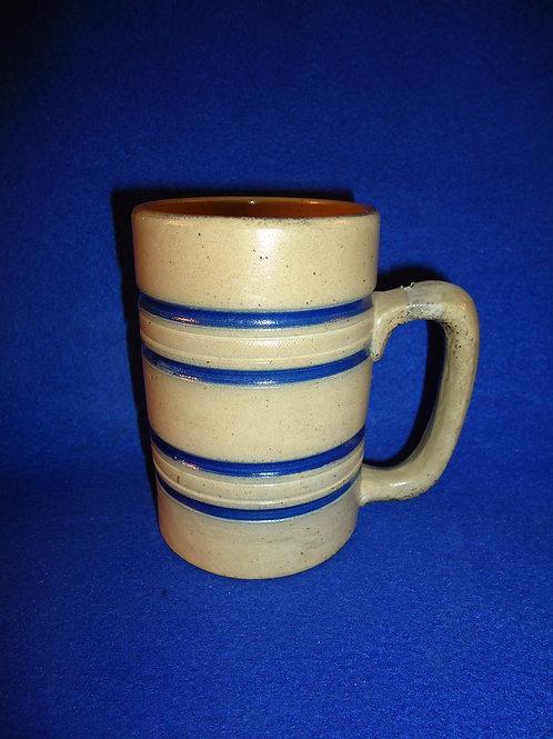 Stoneware Mug with Cobalt Stripes by Whites Pottery of Utica, New York