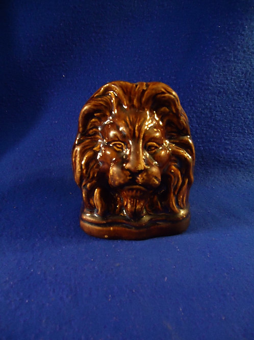 Yellow Ware Lion Window Stop