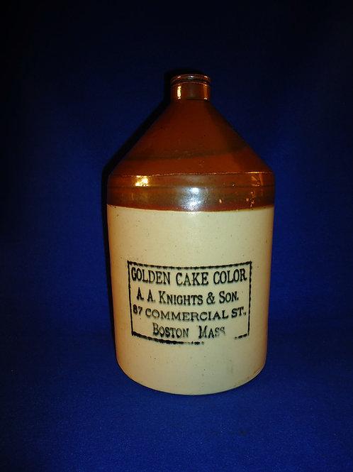 Knights, Boston Golden Cake Color Stoneware Jug