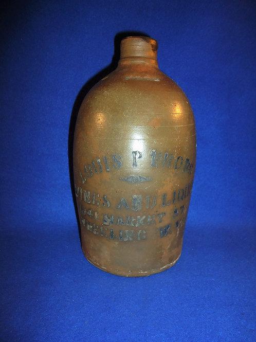 Louis Frobe, Wheeling, West Virginia Stoneware 1/2 Gallon Jug #4471