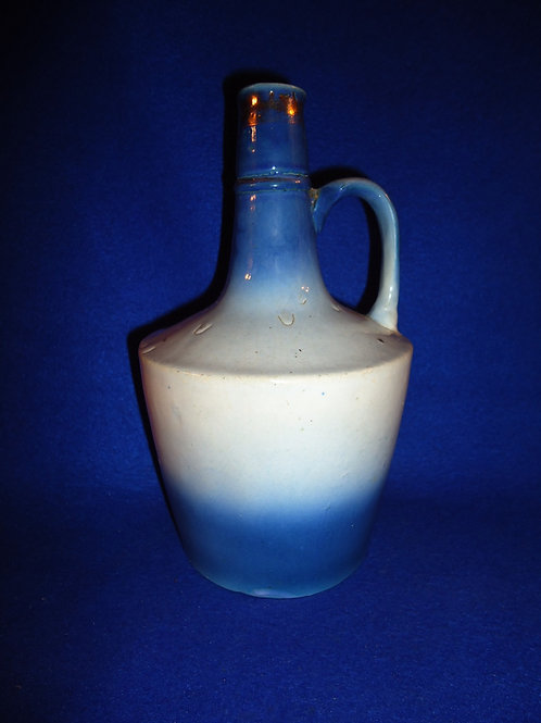 Blue and White Stoneware Jug