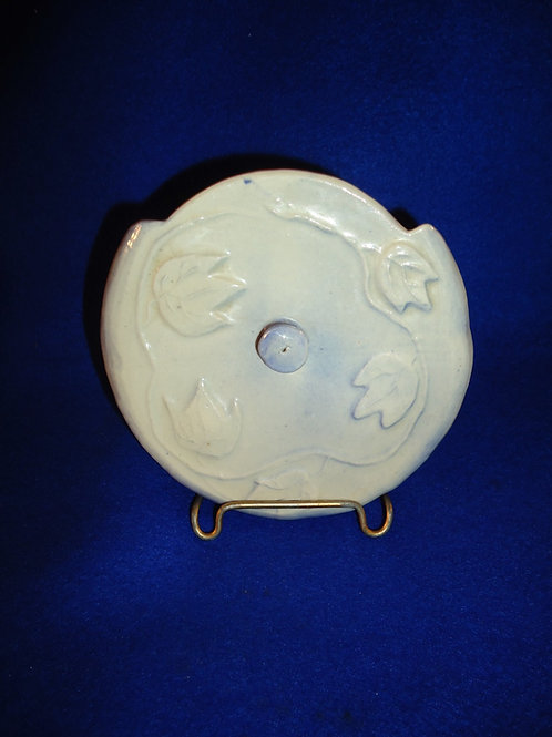 Rare Blue and White Stoneware Salt Crock Lid from J. A. Bauer
