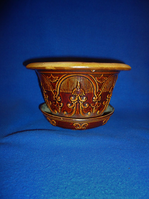 Late 19th Century Molded Stoneware Hanging Flowerpot #4949
