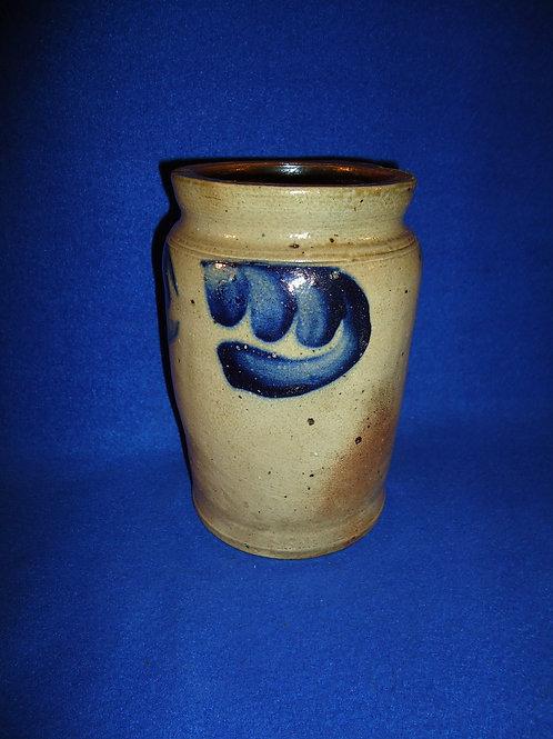 "7"" Stoneware Jar with 4 Leaves, Att. Remmey of Philadelphia #5235"
