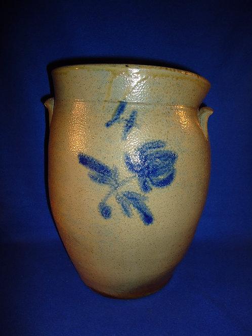Moses and William Porter, Luthersburg, Pennsylvania Stoneware Ovoid Jar