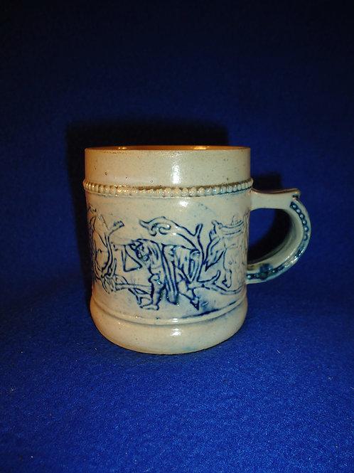 Stoneware Child's Mug with Elf Parorama Whites Pottery of Utica, New York
