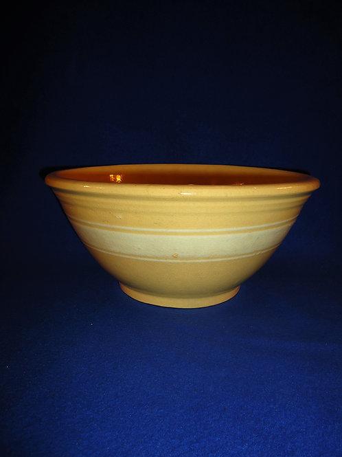 "Yellow Ware 11 3/4"" Bowl, Dandy Line, Brush McCoy"