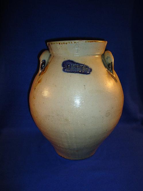Bennage and Sutherland, Springfield, Portage Co., Ohio 4 Gallon Stoneware Jar