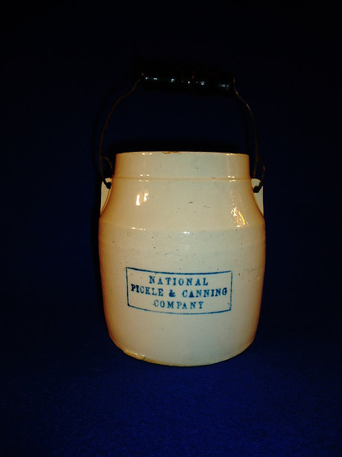 National Pickle & Canning Company Stoneware 3 Pint Jar with Lid and Bail Handle