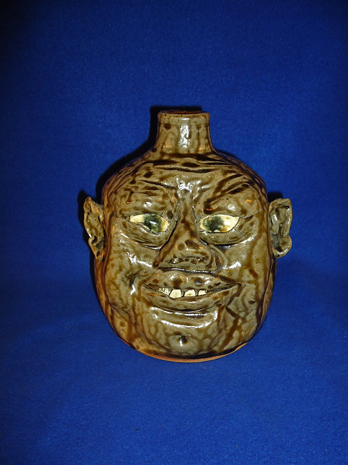 WD and Nan Dean, Cleveland, Georgia Stoneware Face Groteque Jug, #4946