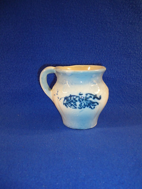 Blue and White Stoneware Shaving Mug in the Bowknot Pattern