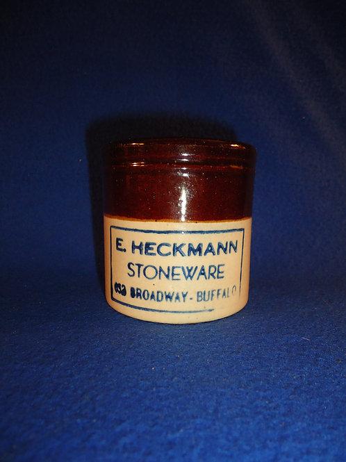 E. Heckmann Stoneware, Buffalo, New York Mini Crock