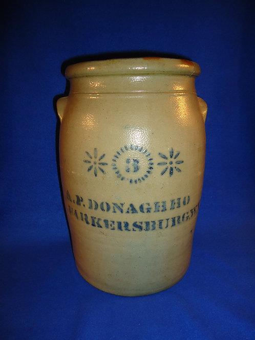 A. P. Donaghho, Parkersburg, West Virginia Stoneware 3 Gallon Jar
