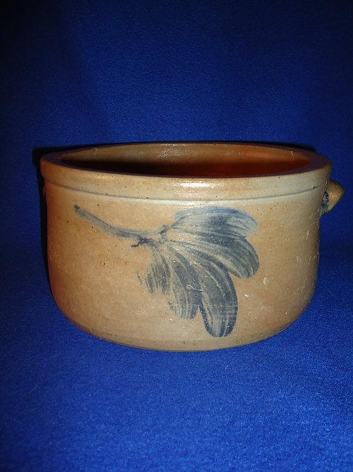 Circa 1870 1 Gallon Stoneware Butter Crock from Baltimore, Maryland