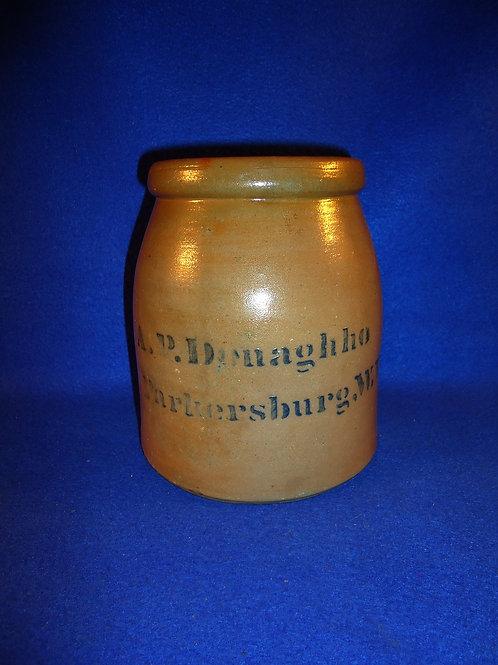 "Rare Donaghho, Parkersburg, West Virginia Stoneware 6 3/4"" Wax Sealer"