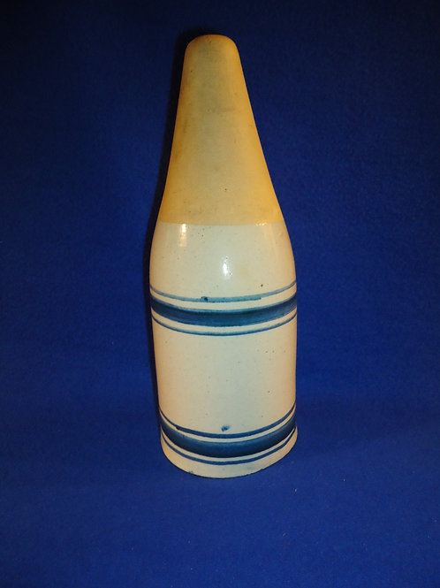 Blue and White Stoneware Cemetery Vase