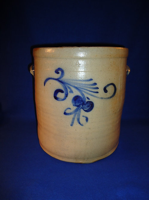 Wingender, Haddonfield, New Jersey Stoneware 4 Gallon Crock with Floral