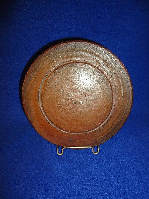 "Early Flat Stoneware Lid.  7"" Diameter"