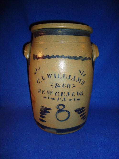 C. L. Williams, New Geneva, Pennsylvania 3g Stoneware Jar