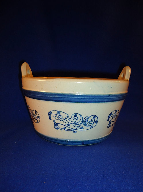 Rare Blue and White Stoneware Keeler in the Nautilus Pattern