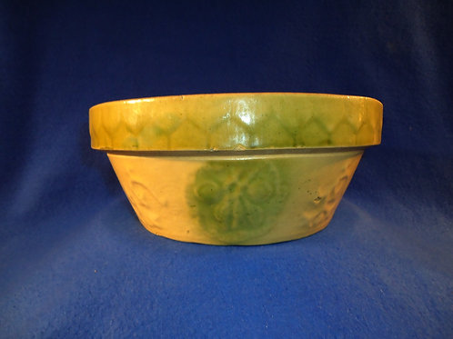Yellow Ware Apricot with Honeycomb Bowl