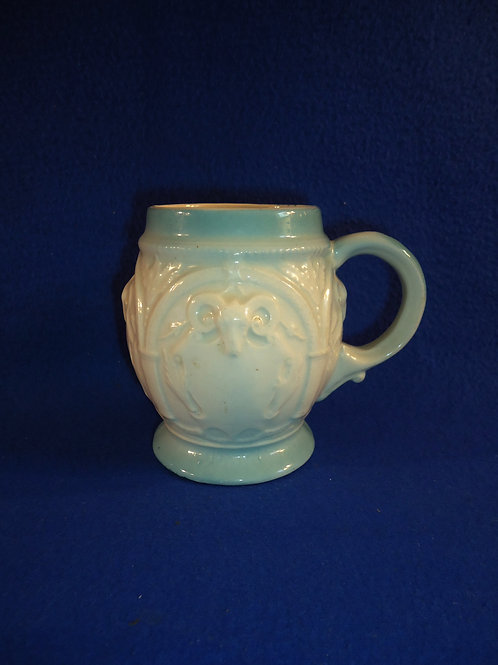 Blue and White Stoneware Mug, Youngstown, Ohio Advertising #5896