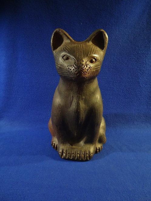 Terra Cotta Folk Art Cat Figural, #4738
