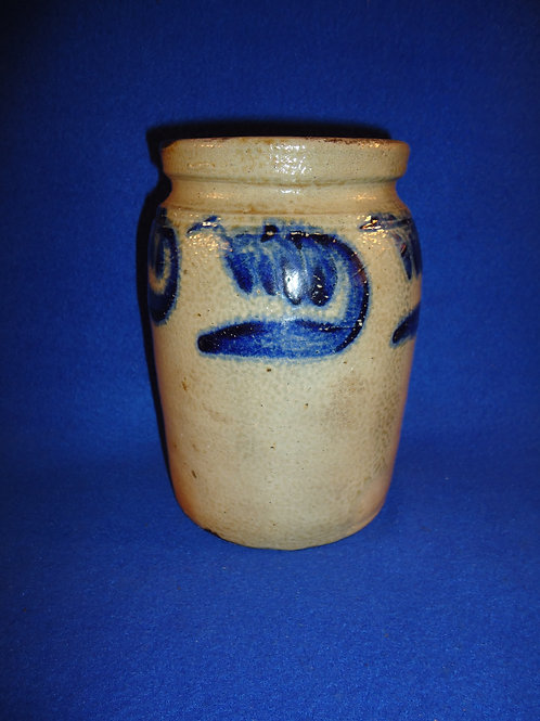 """Exceptional 7"""" Jar with Bold Comma Vining, att. Remmey #4588"""