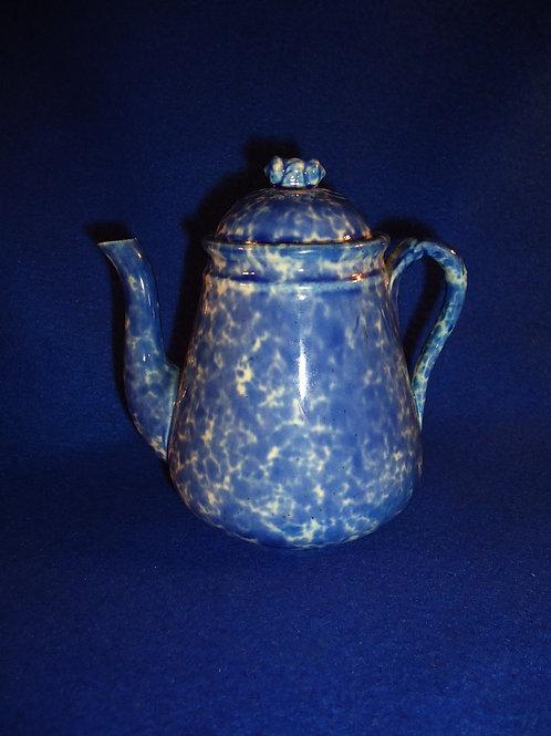 Burford Brothers, East Liverpool, Ohio Stoneware Spongeware Teapot