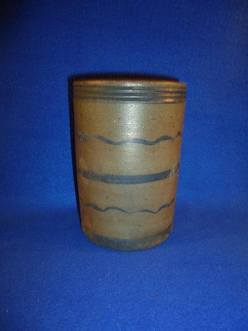 "6"" Wax Sealer with 5 Stripes, att. Hewitt, Rices Landing, PA #5774"