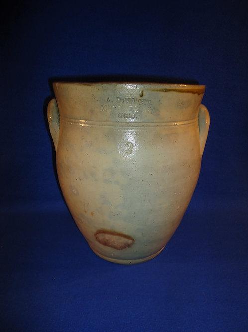 A. DeHaven, Middlebury, Ohio Stoneware 2g. Cream Pot #5488