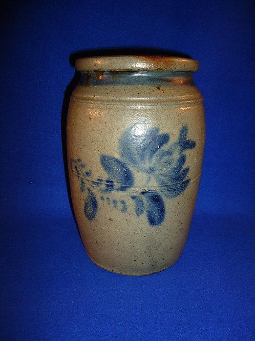 1 Gallon Stoneware Jar with Tulip, att. Daniel Shenfelder, Reading, Pennsylvania