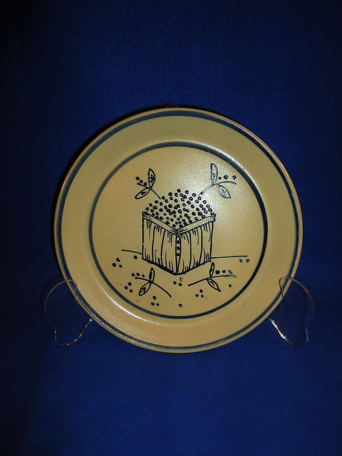 1989 Beaumont Brothers Stoneware Plate, Blueberry Basket, #4718