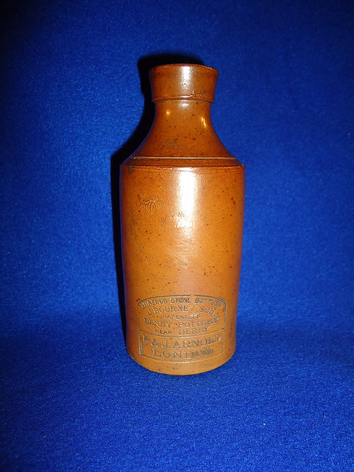 P. & J. Arnold, London Stoneware Master Ink Bottlle by J. Bourne of Denby