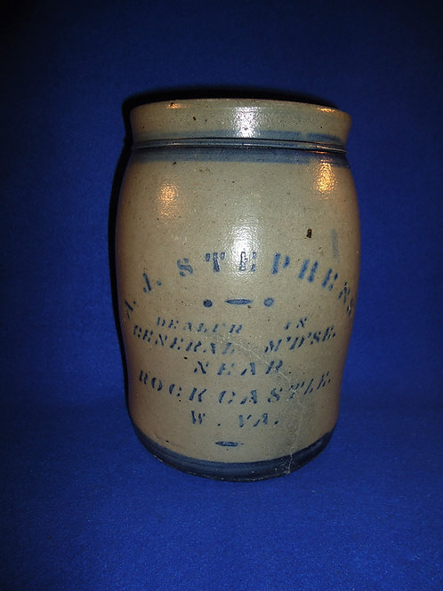 Rare Stephens, Rock Castle, West Virginia Stoneware Jar