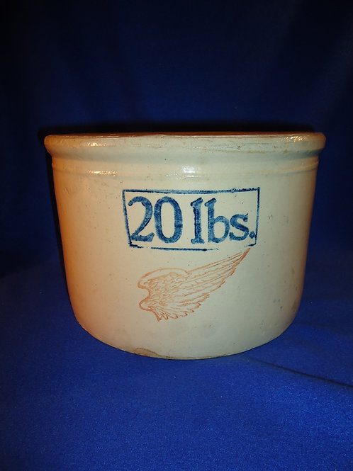 Red Wing Stoneware 20 LB Butter Crock, Minnesota