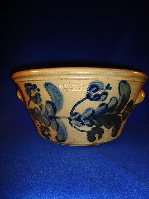 R. & B. Diebboll, Washington, Michigan Stoneware 3 Gallon Harvest Bowl