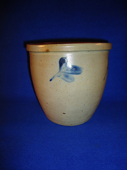 1 Gallon Stoneware Cream Pot with Clovers from Baltimore, Maryland