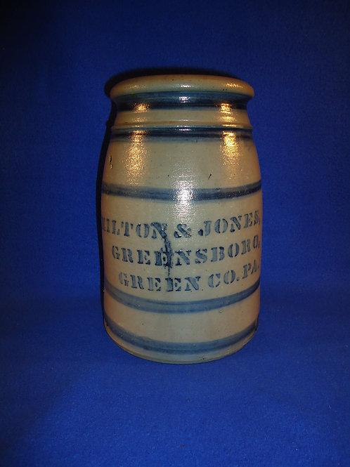 1 Gallon Hamilton & Jones, Greensboro, PA Stoneware Wax Sealer, #4936