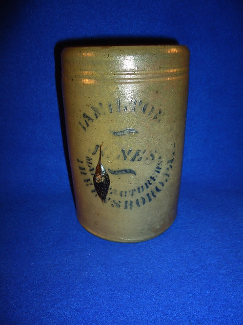 "Hamilton and Jones, Greensboro, Pennsylvania Stoneware 6 1/2"" Wax Sealer"