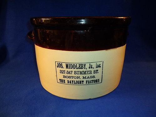 Joseph Middleby, Boston, Massachusetts Stoneware 3 Gallon Butter Crock