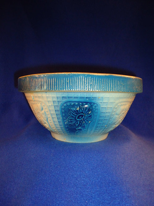 Blue and White Stoneware Bowl in the Cosmos Pattern, Large Size