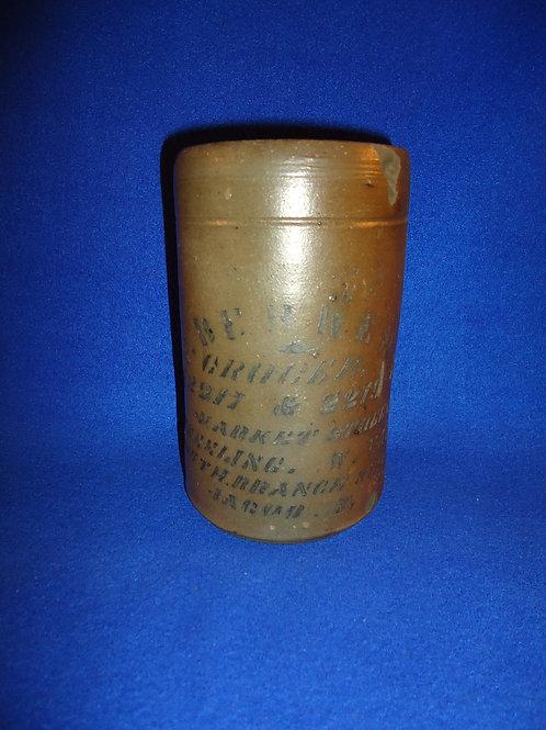 H. F. Behrens, Grocer, Wheeling, West Virginia Stovepipe Wax Sealer #4529