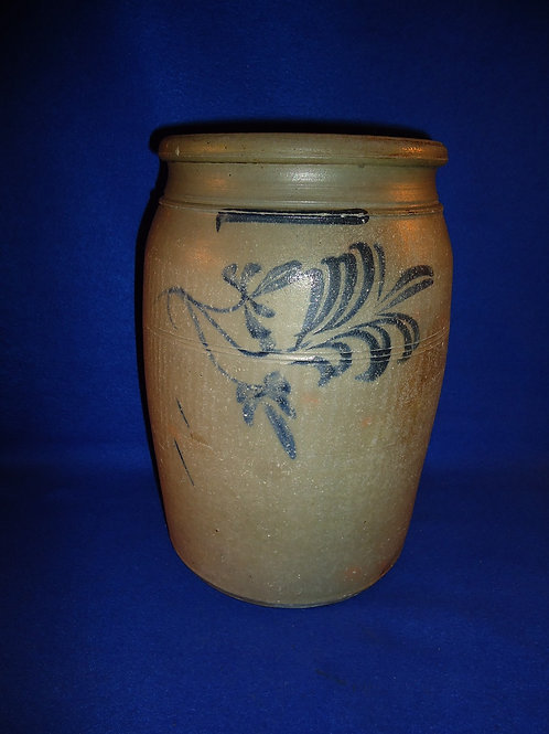 Thompson Pottery, Morgantown, West Virginia Stoneware 2g Jar with Floral Vining