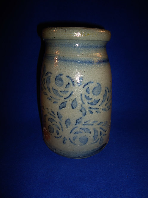 "Circa 1870s Stoneware 8"" Wax Sealer with Double Emblems from Greensboro, PA"
