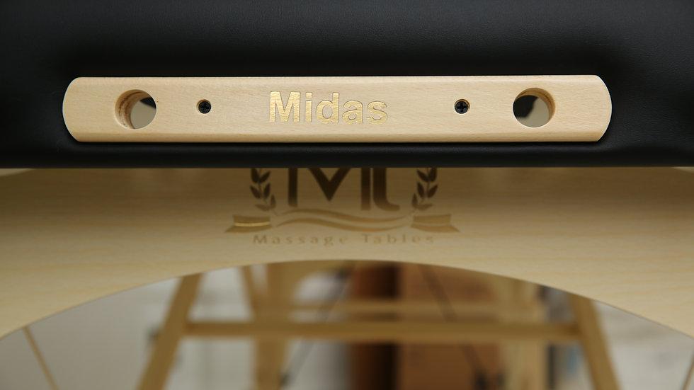 Массажный стол MIDAS черного цвета